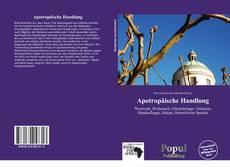 Обложка Apotropäische Handlung