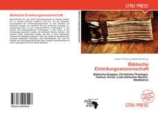 Portada del libro de Biblische Einleitungswissenschaft