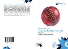 Romania National Cricket Team kitap kapağı