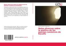 Portada del libro de Notas diversas sobre la poética de los poemas canónicos de Kavafis