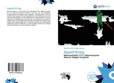 Обложка Appell-Krieg