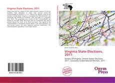 Bookcover of Virginia State Elections, 2011