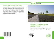 Bookcover of Virginia State Route 33 (1923–1933)