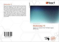 Bookcover of Wednesday 13