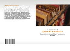 Bookcover of Appendix Sallustiana