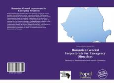 Bookcover of Romanian General Inspectorate for Emergency Situations