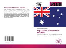 Bookcover of Separation of Powers in Australia