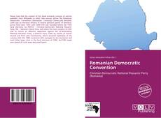 Romanian Democratic Convention的封面