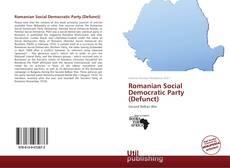 Bookcover of Romanian Social Democratic Party (Defunct)