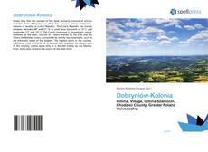 Portada del libro de Dobryniów-Kolonia