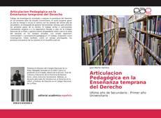 Portada del libro de Articulacion Pedagógica en la Enseñanza temprana del Derecho