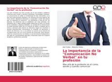 """Capa do livro de La importancia de la """"Comunicación No Verbal"""" en tu profesión"""