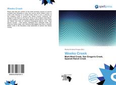 Bookcover of Weeks Creek