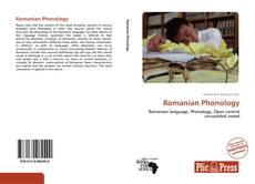Capa do livro de Romanian Phonology