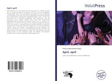 Capa do livro de April, april