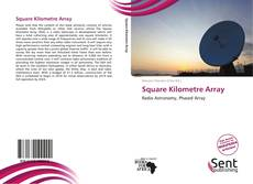 Capa do livro de Square Kilometre Array