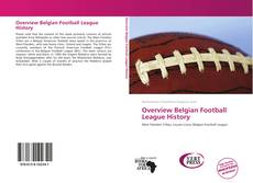 Overview Belgian Football League History kitap kapağı
