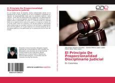Bookcover of El Principio De Proporcionalidad Disciplinario Judicial