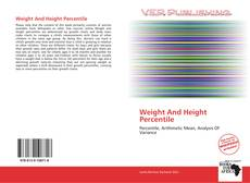 Bookcover of Weight And Height Percentile