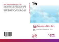 Bookcover of Pete Townshend Live Bam 1993