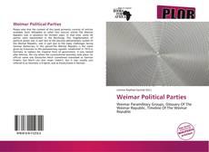 Bookcover of Weimar Political Parties