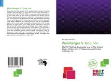 Borítókép a  Weinberger V. Uop, Inc. - hoz
