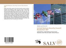 Bookcover of United Nations Security Council Resolution 687
