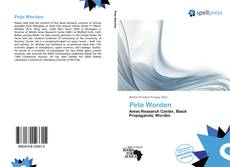 Copertina di Pete Worden
