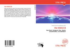 Bookcover of Hd 45652 B