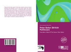 Bookcover of Peter Baker (British Politician)