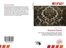 Capa do livro de Viscount Simon