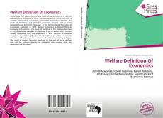 Portada del libro de Welfare Definition Of Economics