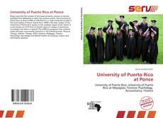 University of Puerto Rico at Ponce的封面