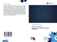 Portada del libro de Peter Benoit
