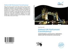Bookcover of Oxford (UK Parliament Constituency)