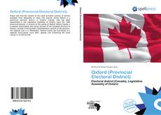Capa do livro de Oxford (Provincial Electoral District)