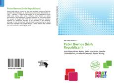 Portada del libro de Peter Barnes (Irish Republican)
