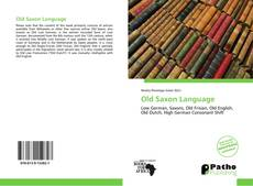 Bookcover of Old Saxon Language