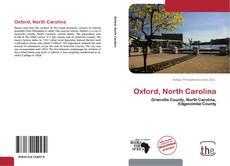 Capa do livro de Oxford, North Carolina
