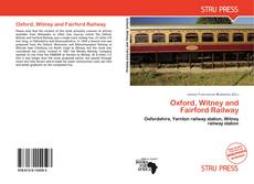 Обложка Oxford, Witney and Fairford Railway