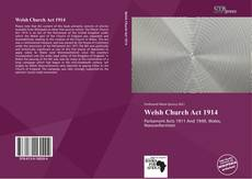 Portada del libro de Welsh Church Act 1914