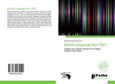 Portada del libro de Welsh Language Act 1967