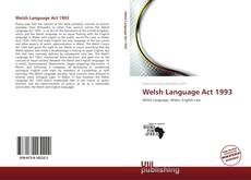 Bookcover of Welsh Language Act 1993