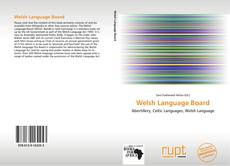 Bookcover of Welsh Language Board