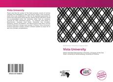 Bookcover of Vista University