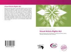 Buchcover von Visual Artists Rights Act