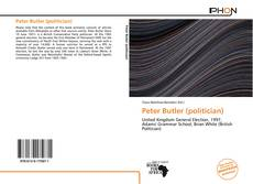 Bookcover of Peter Butler (politician)