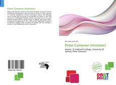 Bookcover of Peter Cameron (minister)