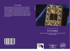 Capa do livro de Uva Letzion
