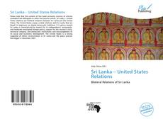 Bookcover of Sri Lanka – United States Relations